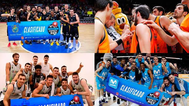 Iberostar Tenerife, Valencia Basket, Divina Joventut y Movistar Estudiantes completan el plantel copero