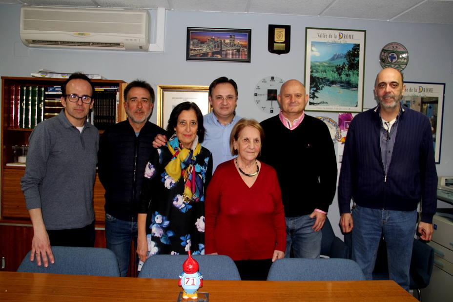 Grupo de animadores de las carreras en la HDS de Albacete