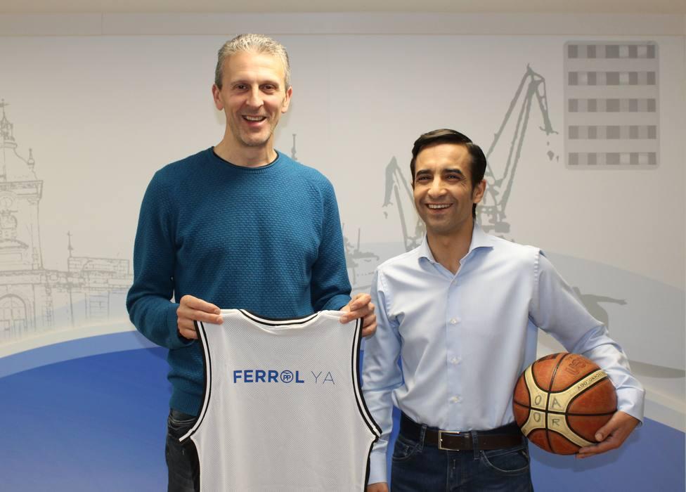 Ricardo Aldrey, que fue jugador del OAR y ahora en el Uni Ferrol se une al proyecto del PP - FOTO: PP Ferrol