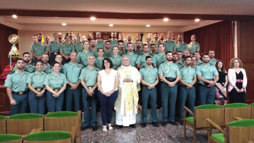 Más de 50 jóvenes Guardias Civiles hacen la confirmación: Nos dará la fuerza para la lucha diaria
