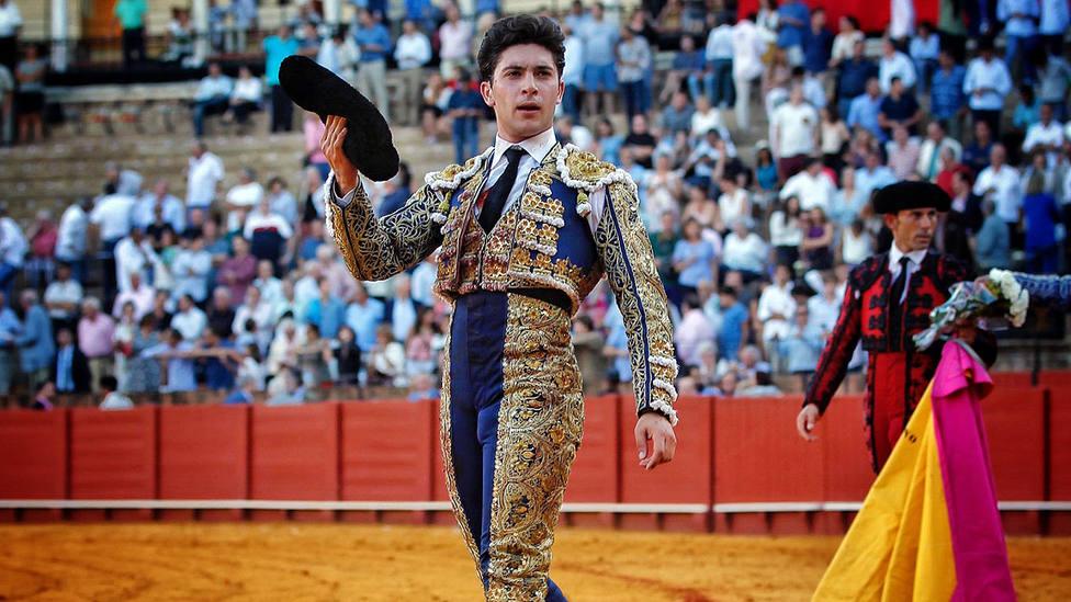 Rafael González en su vuelta al ruedo este viernes en la Real Maestranza de Sevilla