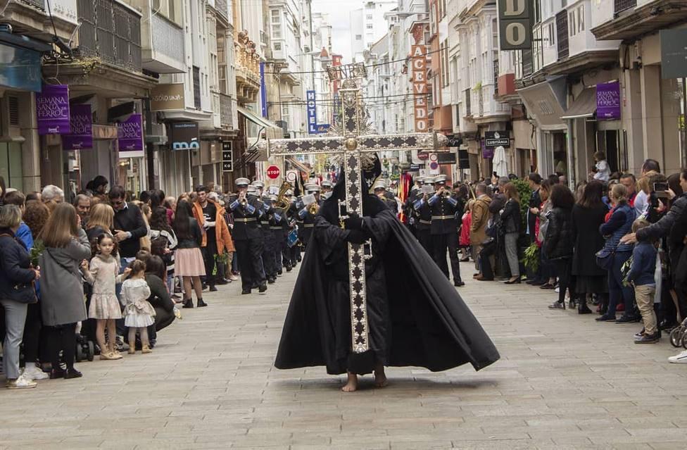 Procesión de la Semana Santa de Ferrol en el año 2019 - FOTO: Roberto Marín