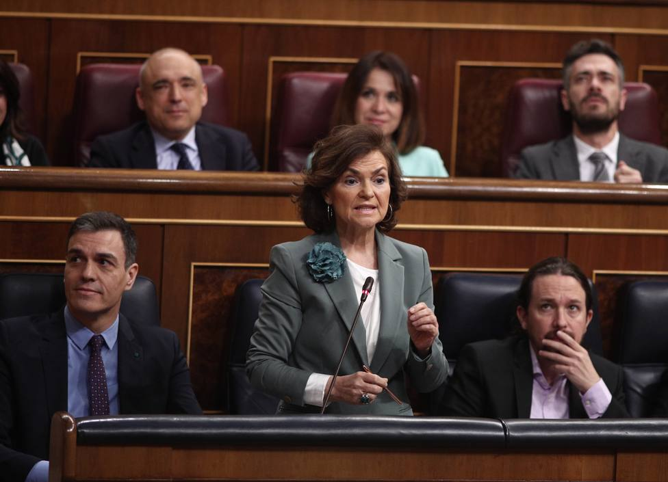 Calvo defiende que Iglesias esté en la comisión del CNI y Vox avisa de que han dado gasolina y cerillas a un pirómano