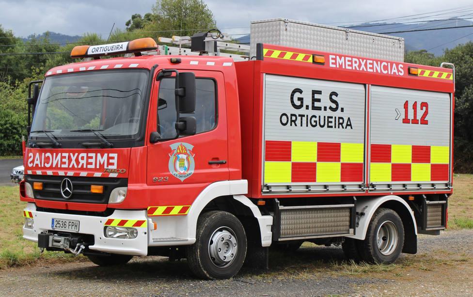 Foto de archivo de un camión del GES de Ortigueira - FOTO: Emergencias Es