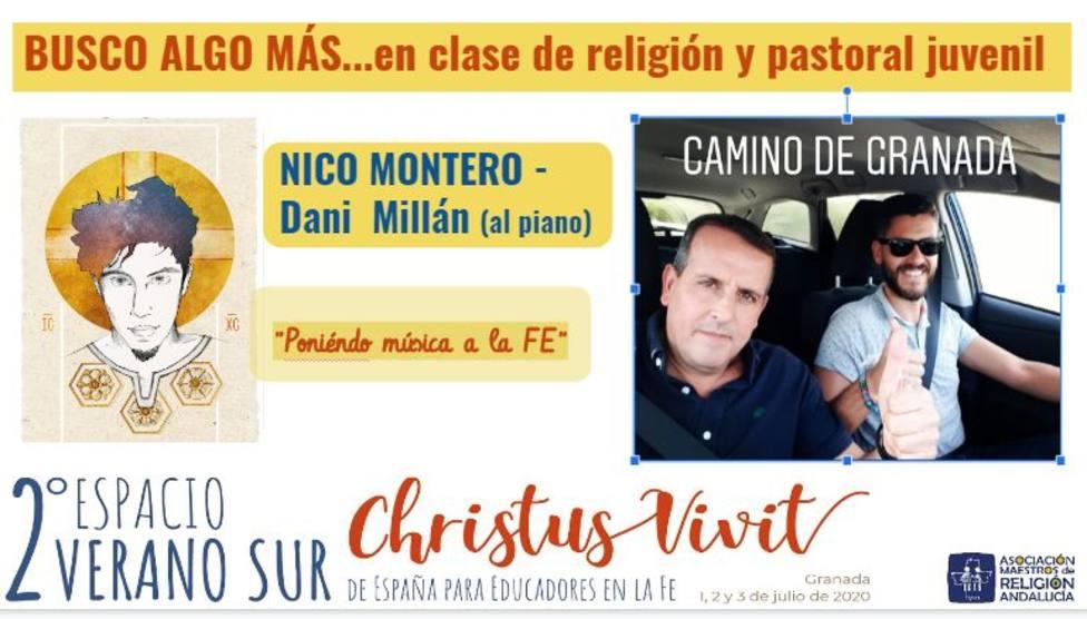 Raúl Tinajero, Nico Montero, Luis Guitarra o Carmen Sara, se citan en el II Espacio de verano Christus Vivit