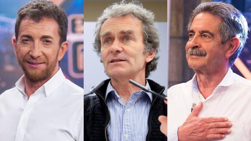 Pablo Motos, Fernando Simón y Miguel Ángel Revilla