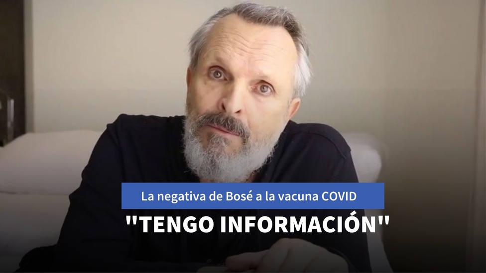 La negativa de Miguel Bosé a aceptar la vacuna contra el coronavirus: Tengo información