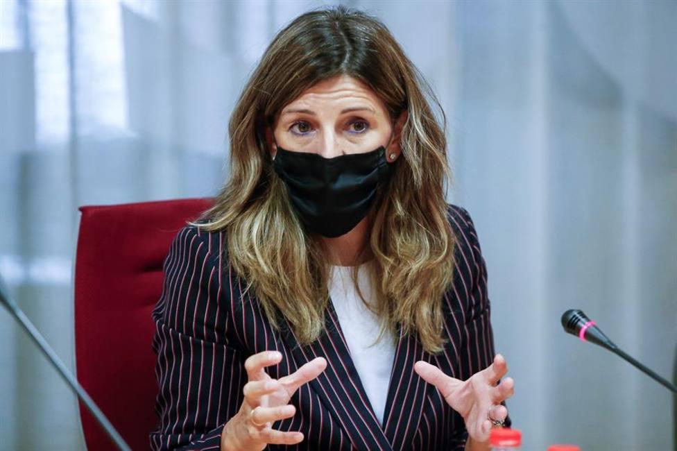La ministra de Trabajo y Economía Social, Yolanda Díaz se reune con sindicatos