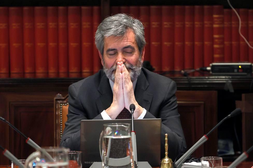 Lesmes expresa en su discurso el enorme pesar por la ausencia del Rey en Barcelona