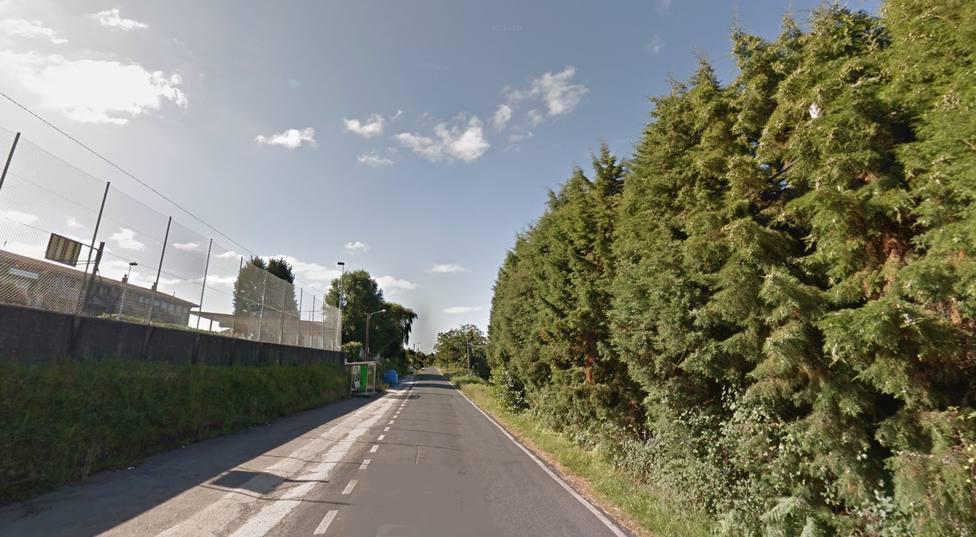 Imagen de la carretera DP-0906 en el municipio de Pontedeume