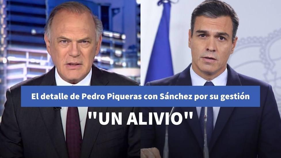 El detalle de Pedro Piqueras con Sánchez que retrata su gestión con la pandemia