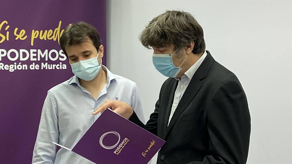 Podemos: Los fondos europeos pueden acabar como las vacunas, repartidos entre amigos de López Miras