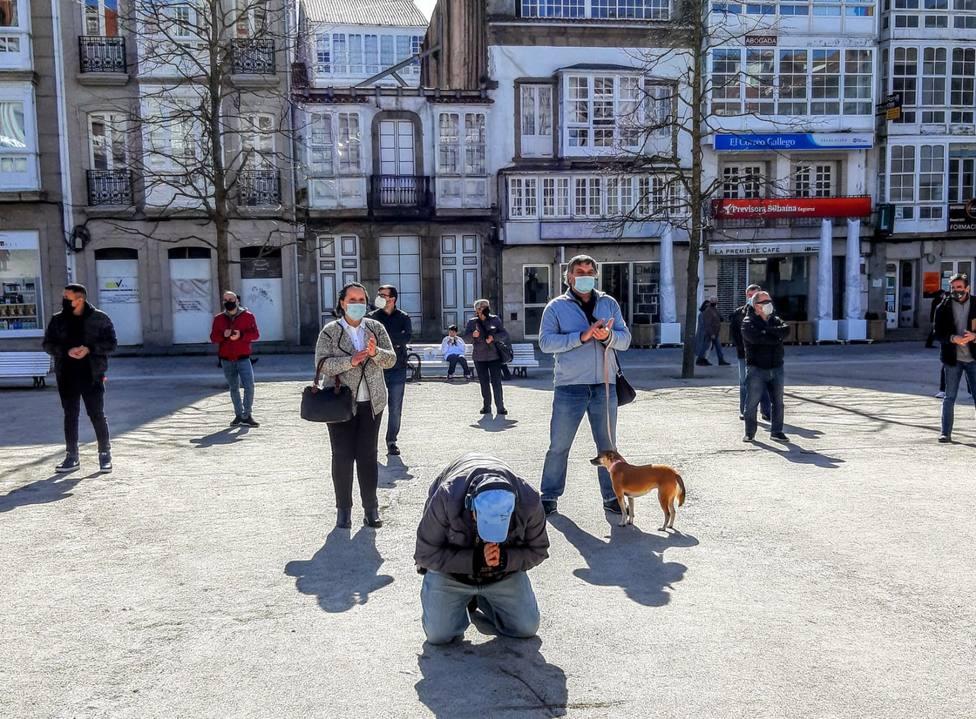 Uno de los participantes en una de las manifestaciones en la plaza de Armas - FOTO: Tony Torres