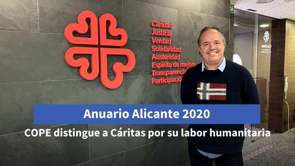Cáritas y su labor humanitaria durante la pandemia, premio COPE Alicante en la Gala del Anuario 2020
