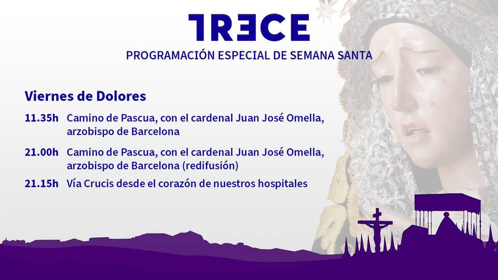 Este viernes, en TRECE, no te pierdas el Vía crucis desde el corazón de nuestros hospitales