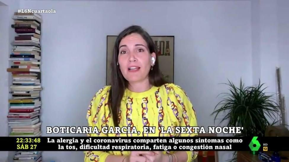 """Boticaria García da las claves definitivas para diferenciar el coronavirus de la alergia: """"Síntomas comunes"""