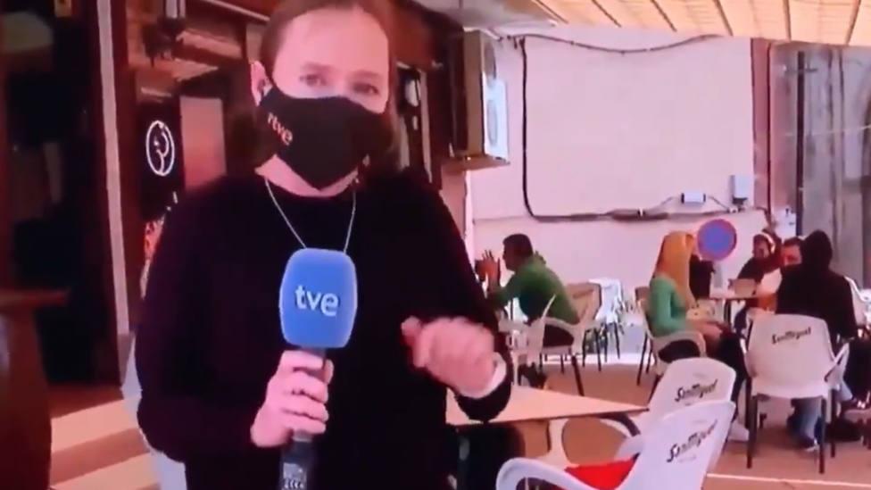TVE denuncia que una terraza está llena y lo que muestran las cámaras se le vuelve en contra
