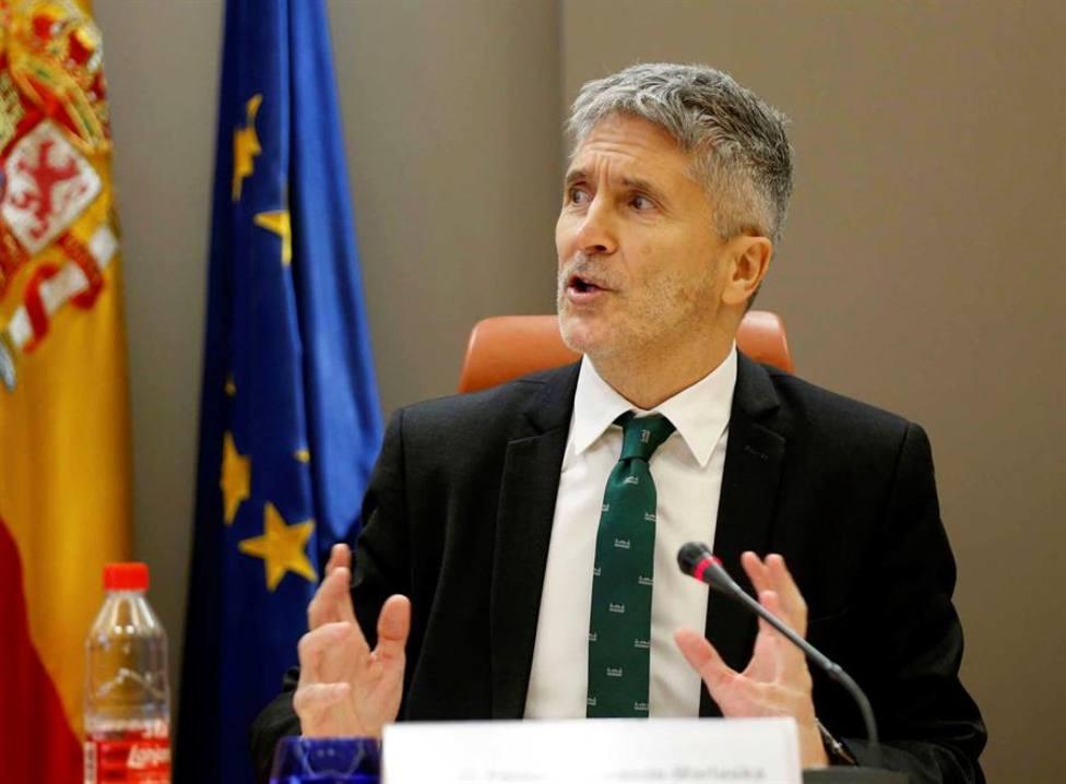 El ministro de Interior en funciones, Fernando Grande-Marlaska