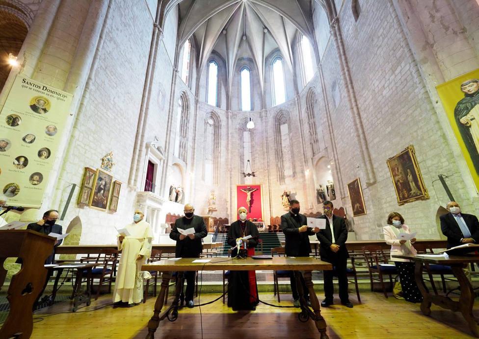 Acto de apertura del proceso de canonización del Padre Gago en la Iglesia de San Pablo, en Valladolid