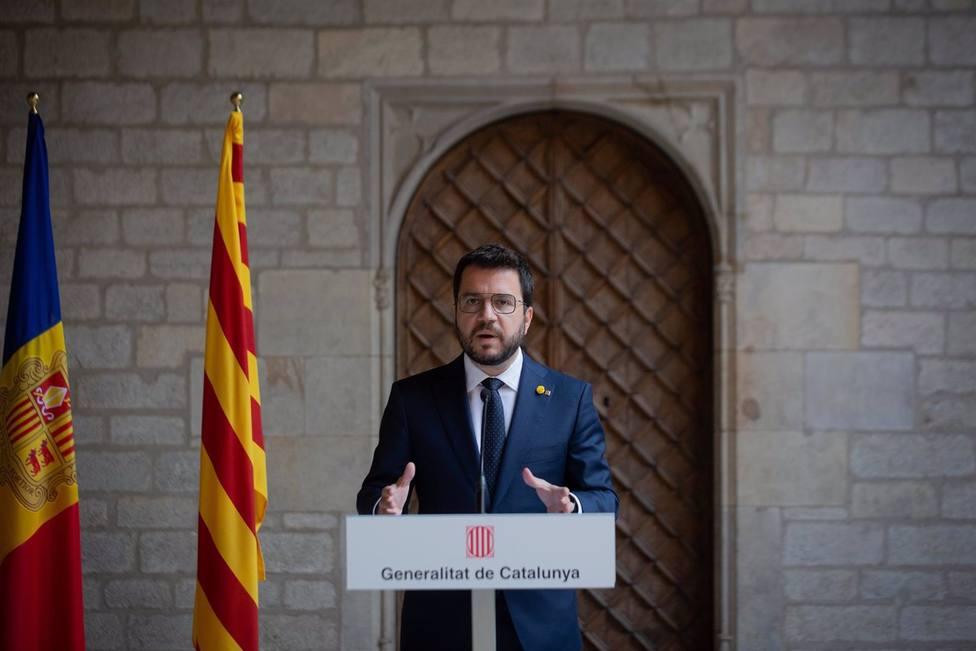 Aragonès se muestra confiado que el Gobierno no recurra el fondo para las fianzas del Tribunal de Cuentas