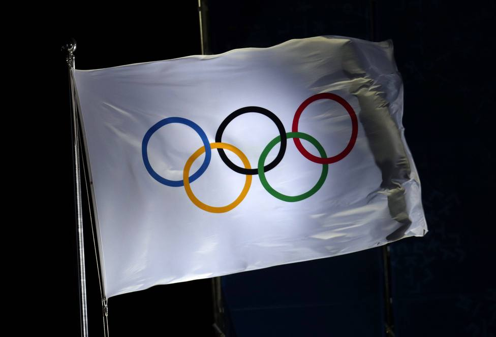 Bandera de los Juegos Olímpicos.