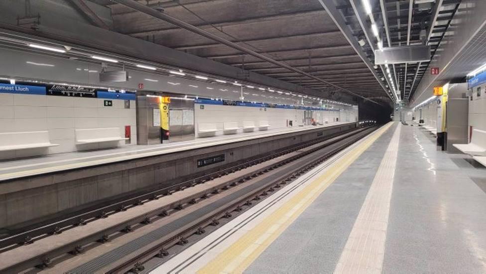 El Metro de Barcelona estrenará la nueva estación de la L5 Ernest Lluch este domingo