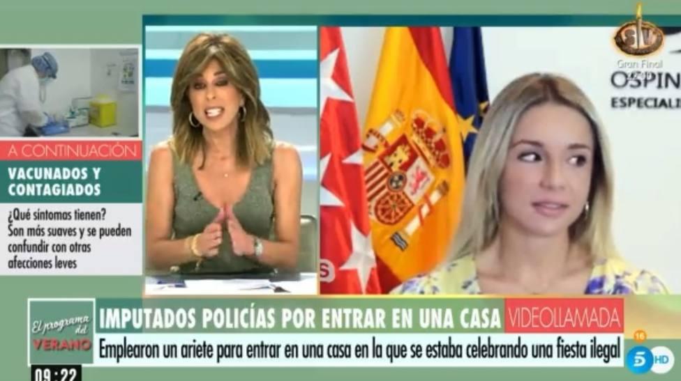 """El corte de Ana Terradillos a una invitada tras mencionar a Ana Rosa: """"Pero bueno"""""""