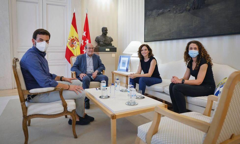 Díaz Ayuso, Antonio Vicente y los ediles Ignacio Parra y Vanesa Herranz