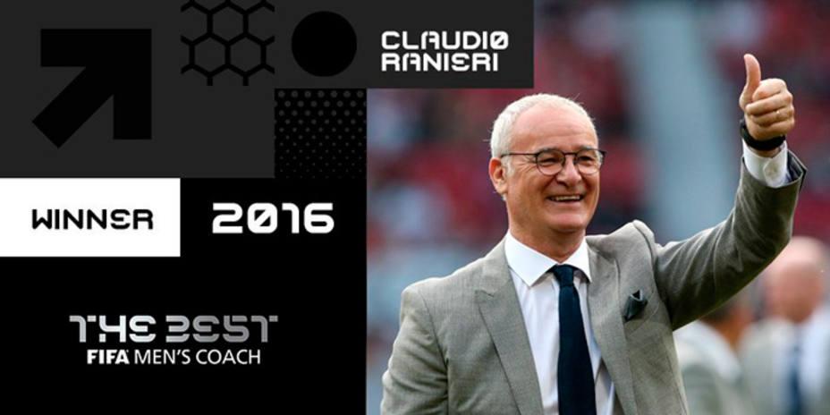 Claudio Ranieri, elegido Mejor Entrenador de 2016