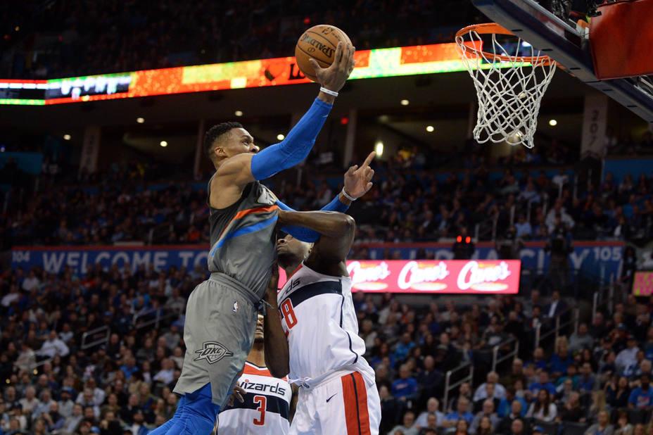 Abrines, sin minutos en la victoria de los Thunder ante los Wizards. Westbrook colosal: 46 puntos
