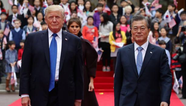 Trump y Moon destacaron que un futuro pacífico y próspero para Corea del Norte depende de su desnuclearización