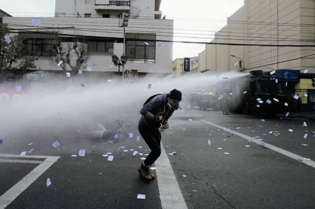 Disturbios en el 45 aniversario del golpe militar en Chile