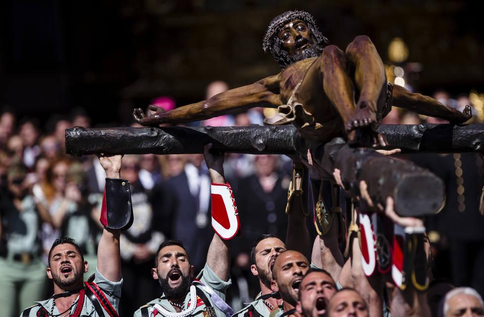 La Legión pide a Abascal, Casado y Rivera que no acudan a la procesión del Cristo de la Buena Muerte