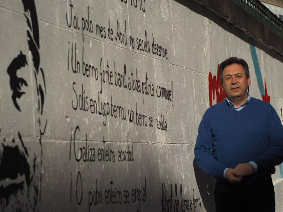 """Lugonovo crítica al PP por llamar """"pintada independentista"""" a un mural sobre los Mártires de Carral"""
