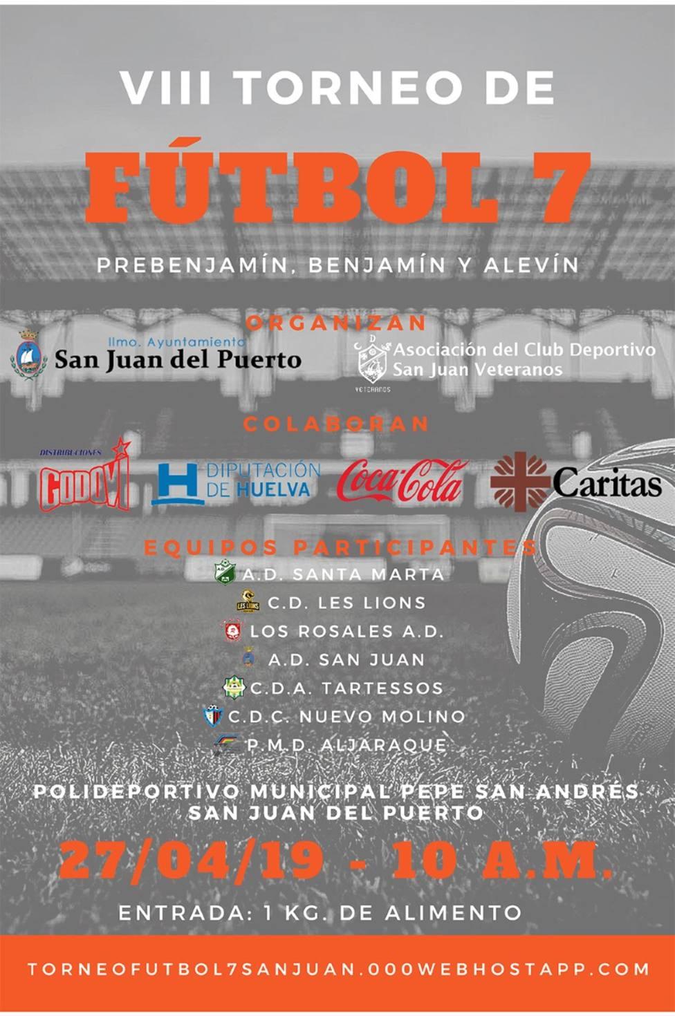cartel anunciador del Torneo de Fútbol 7