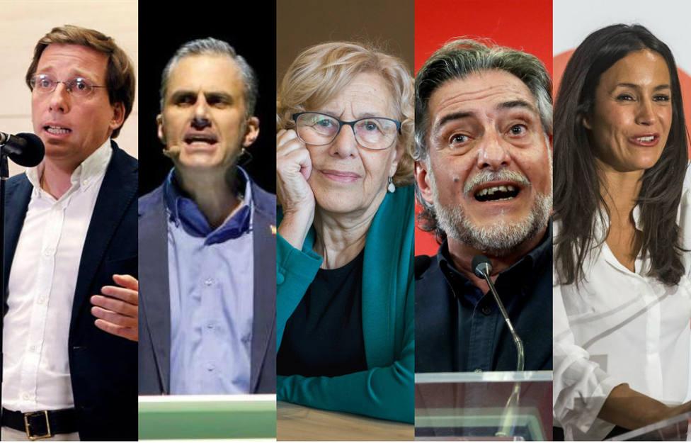 La capital en juego: estos son los candidatos que optan a liderar el Ayuntamiento de Madrid
