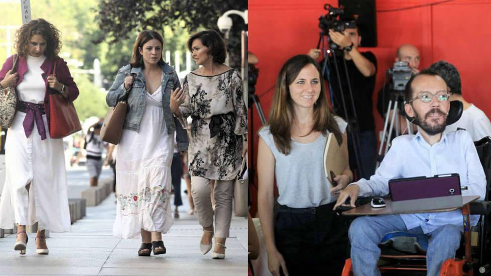 ¿Quiénes son los negociadores del PSOE y Unidas Podemos?