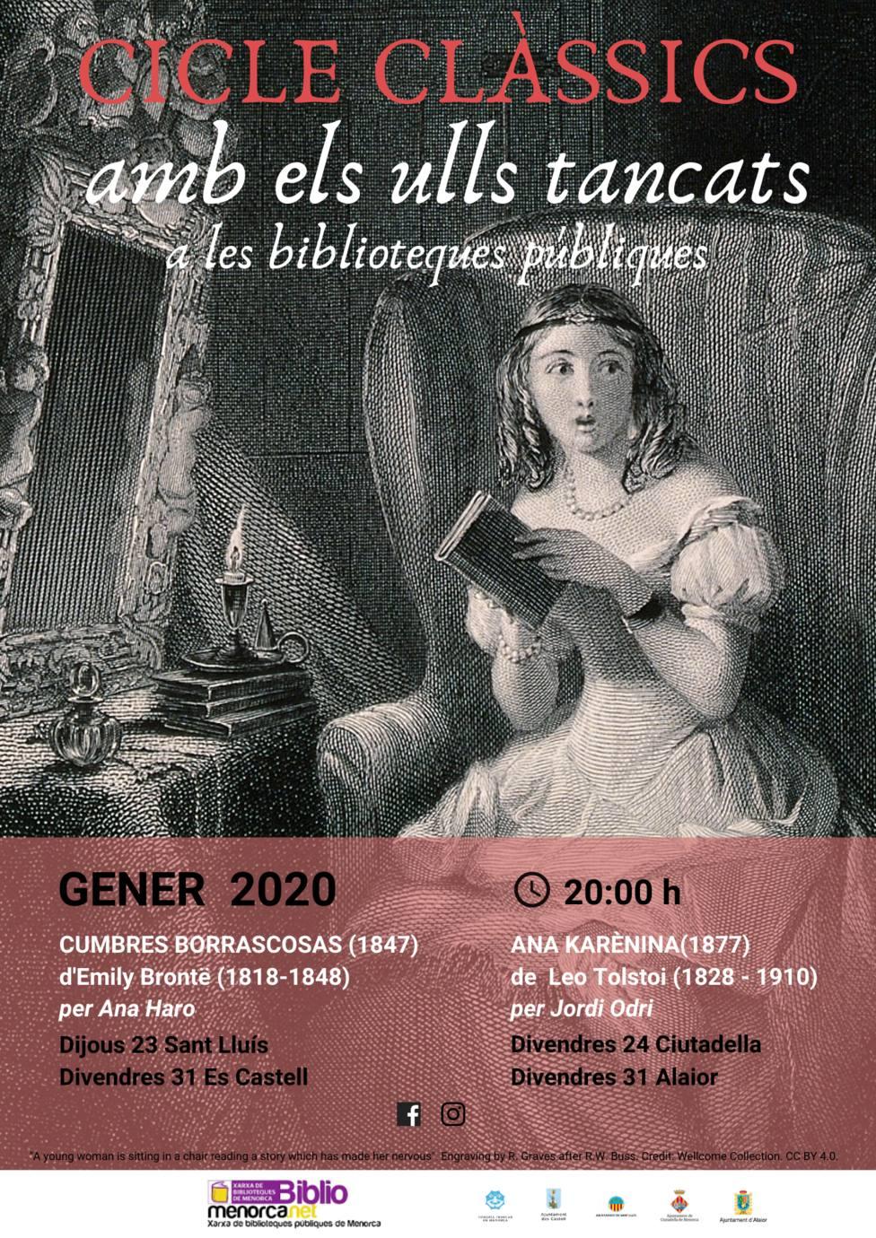 «Los clásicos, con los ojos cerrados» a la Red de Bibliotecas de Menorca