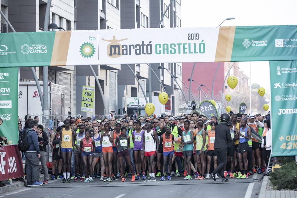 Salida de la maratón de Castellón en 2019