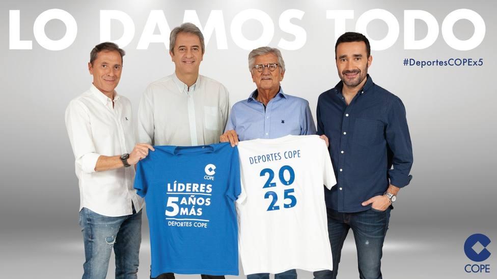 Paco, Pepe, Lama y Juanma: cinco años más en COPE
