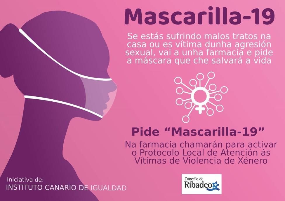 Ribadeo activa una campaña con palabras en clave para denunciar violencia machista en el confinamiento