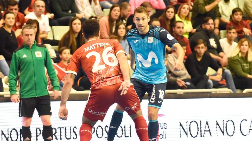Pito y Matteus, durante un enfrenamiento entre Movistar Inter y ElPozo Murcia (LNFS)