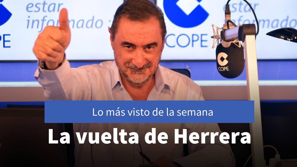 La vuelta de Herrera de sus vacaciones, entre lo más visto de la semana