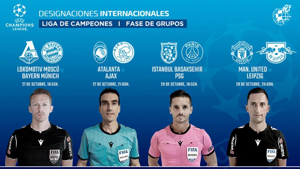 Cuatro árbitros españoles estarán en el VAR de la 2ª jornada de la Liga de Campeones (IMAGEN: RFEF)