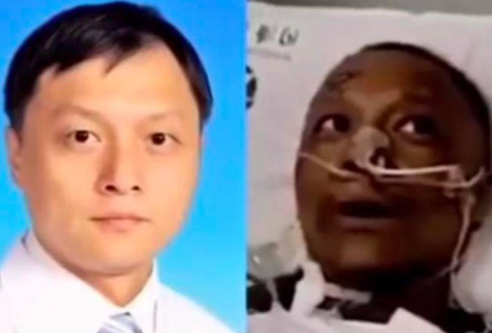 Habla por primera vez el doctor chino que se volvió negro por el coronavirus