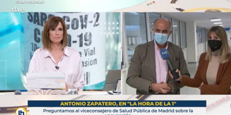 El corte de un viceconsejero de Ayuso a Mónica López que revoluciona su entrevista en TVE