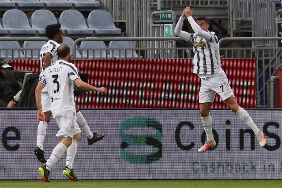 El Cagliari paga la furia de Cristiano