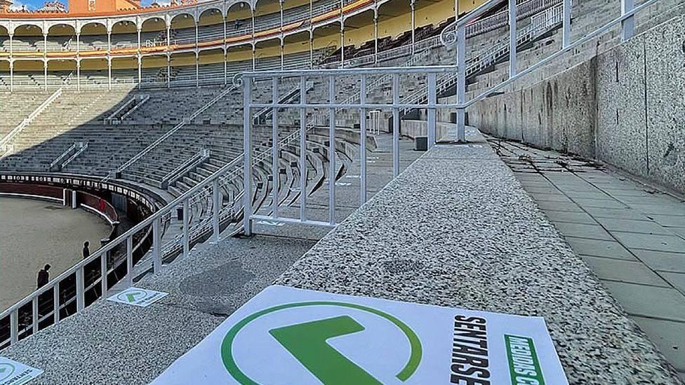 La plaza de Las Ventas distribuyó el público según la normativa vigente el pasado 2 de mayo