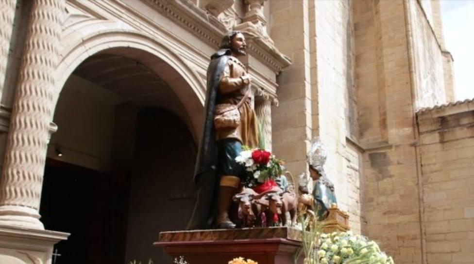 San Isidro, patrón de los agricultores, bendecirá los campos desde la iglesia de Santiago el Real de Logroño