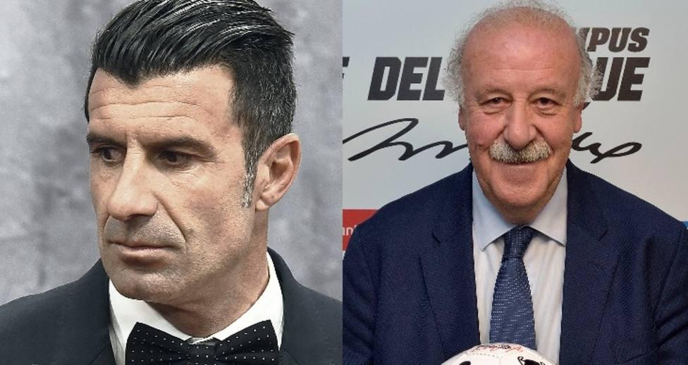 Luis Figo y Del Bosque
